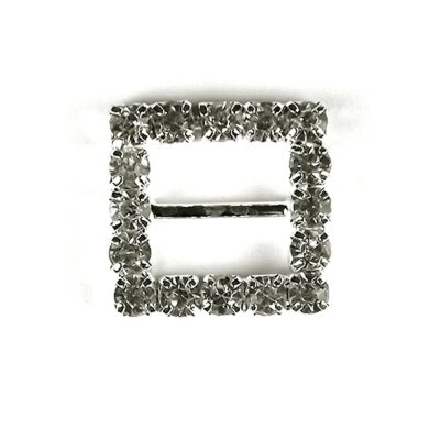 Diamante Square Buckle Small