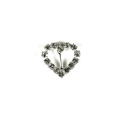 Diamante Heart Buckle with Vertical Bar – Mini