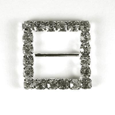 Diamante Square Buckle Large