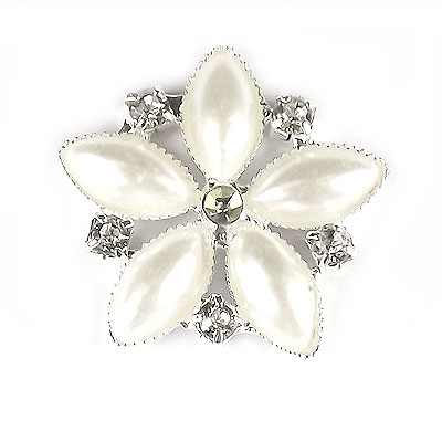 Flower Diamante and Pearl Embellishment