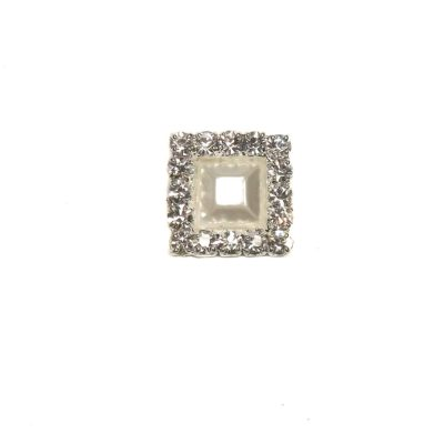 Square Diamante and Pearl Embellishment