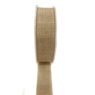 25mm Burlap Ribbon – Natural