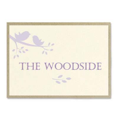 The Woodside Table Number / Name