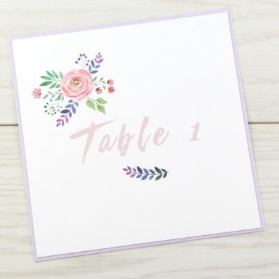 Summer Blossom Table Name / Number
