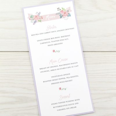 Summer Blossom Menu