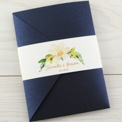 The Primrose Pocketfold Wedding Invitation