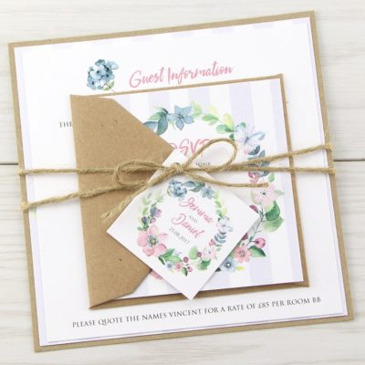 The Spring Field Parcel Wedding Invitation