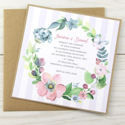 The Spring Field Layered Square Wedding Invitation