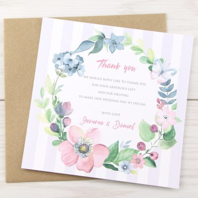 Spring Field Thank you Card