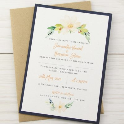 The Primrose Layered Print Wedding Invitation