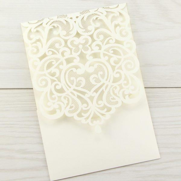 josephine laser cut blanks pure invitation wedding invites With josephine laser cut wedding invitations