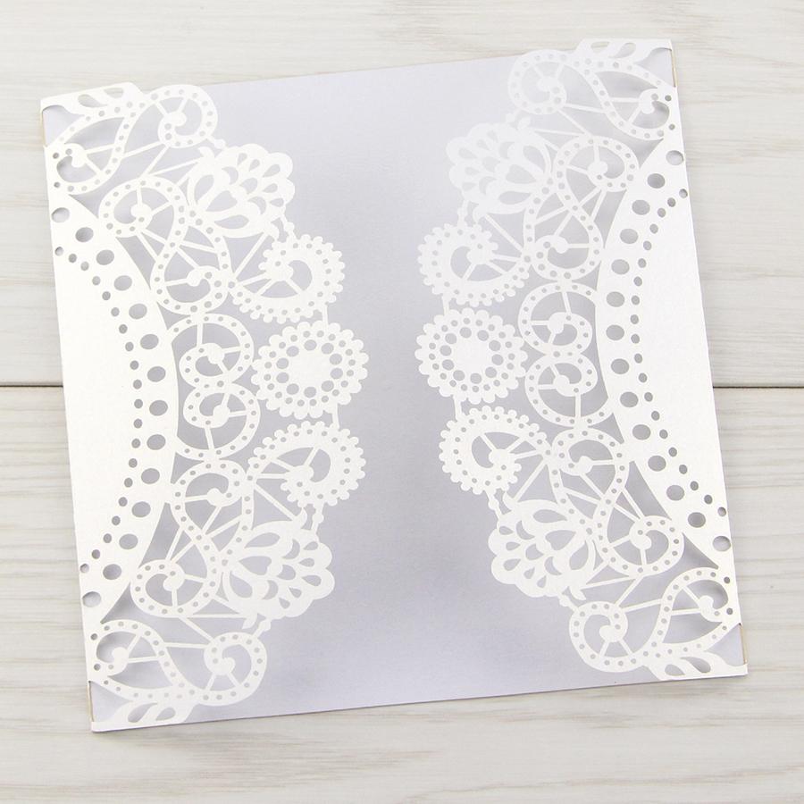 Doily Laser Cut Blanks Pure Invitation Wedding Invites