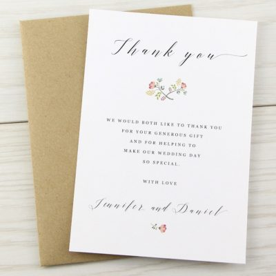 Country Bloom Thank you Card