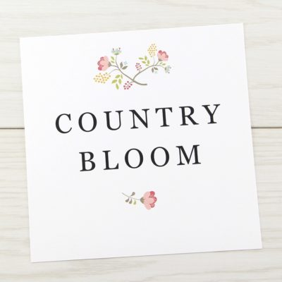Country Bloom Table Name / Number