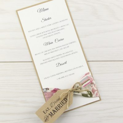Wedding Menu Cards  Pure Invitation Wedding Invites