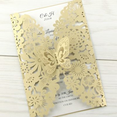 Molly Laser Cut Wedding Invitation