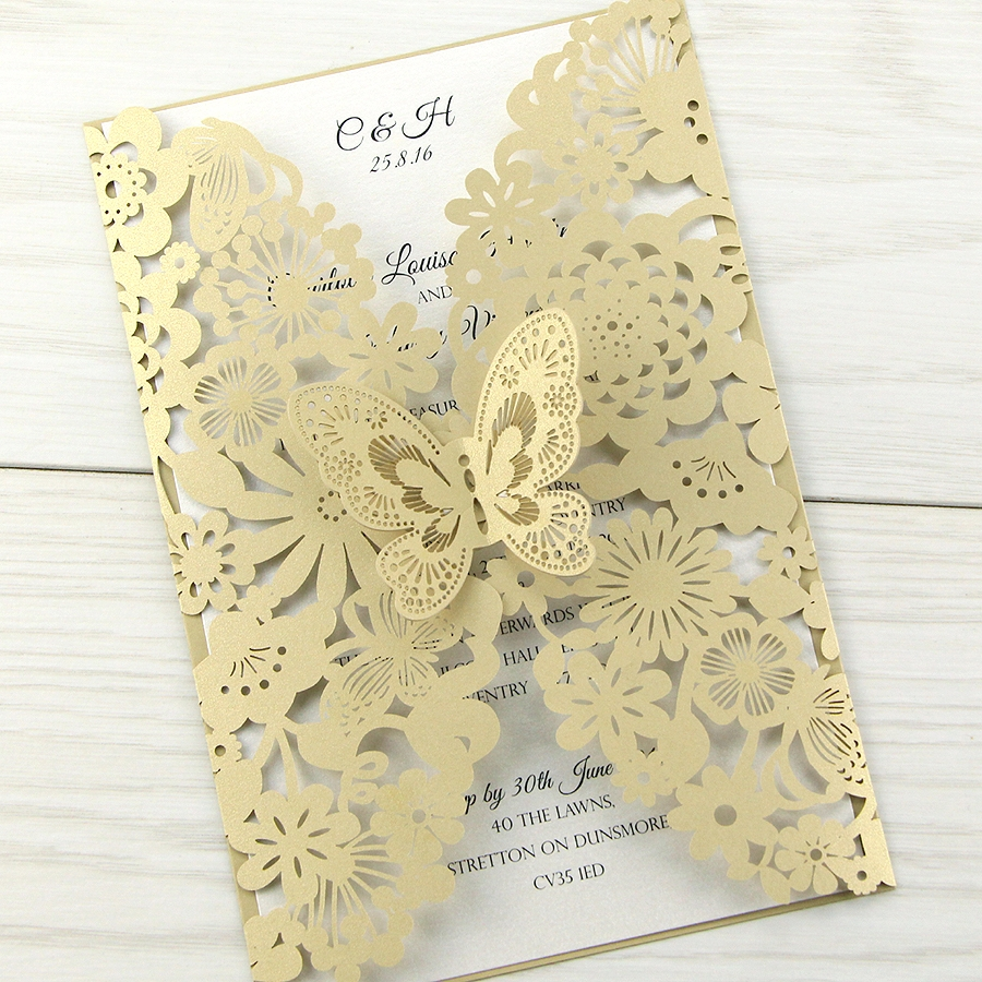 Molly Laser Cut Wedding Invitation Pure Invitation