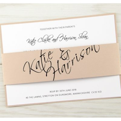 Scriptana Parcel Wedding Invitation
