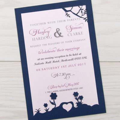 Laurel Tree Contemporary Fonts Evening Invitation