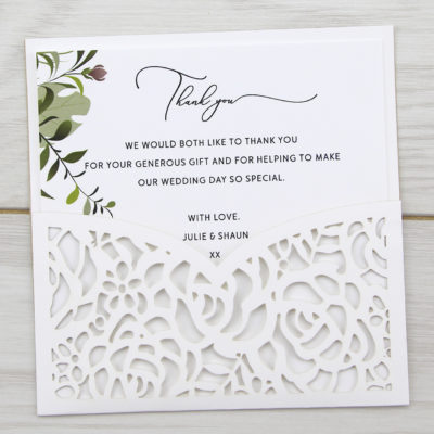 Amelia Greenery Thank you Card