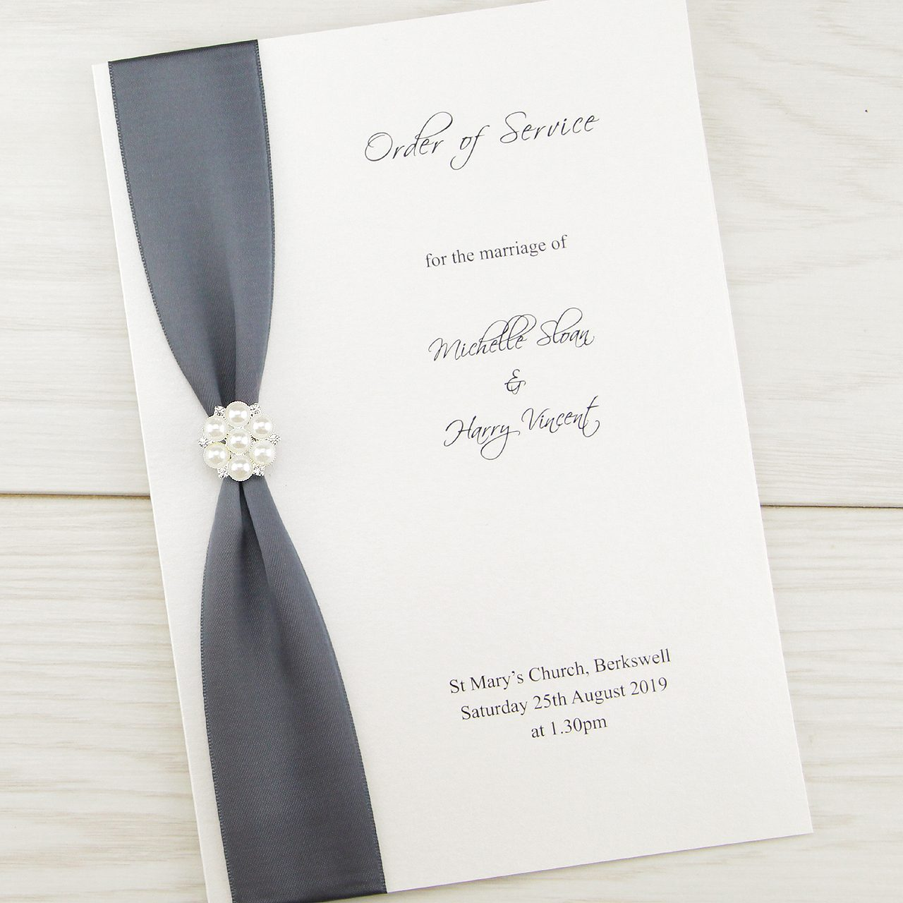 Cluster Order of Service | Pure Invitation Wedding Invites