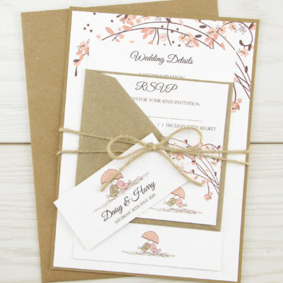 Love Birds Parcel Wedding Invitation