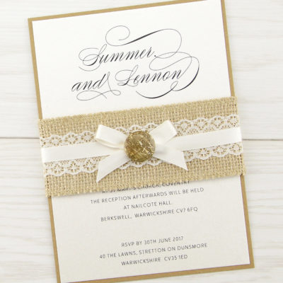 The Dixie Parcel Wedding Invitation