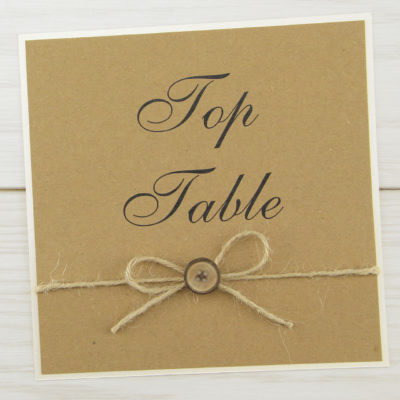 Rustic Button Table Name / Number