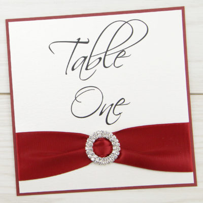 Double Diamante Buckle Table Name / Number