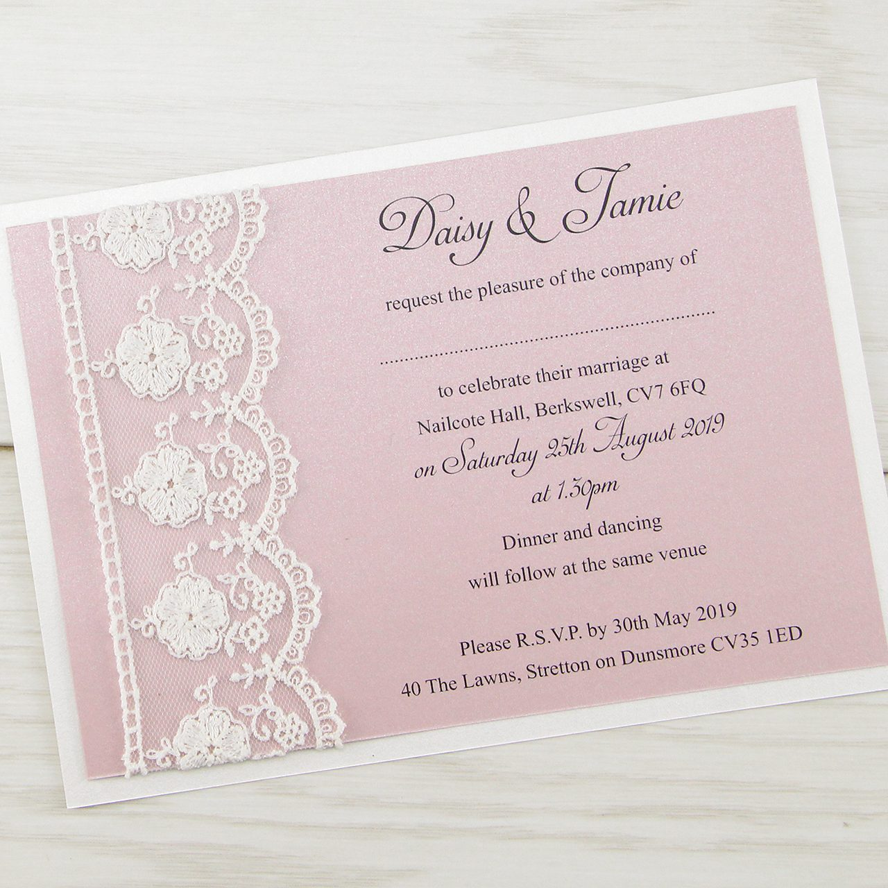 Vintage Style Wedding Invitations | Pure Invitation Wedding Invites
