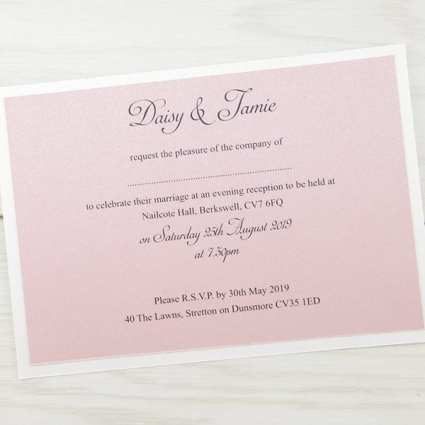 Elizabeth Evening Invitation Pure Invitation Wedding Invites