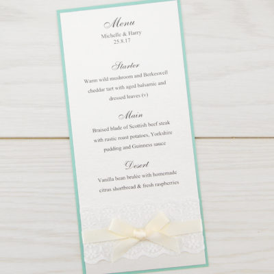 Embroidered Lace Menu