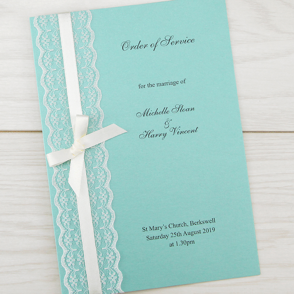 When Should Wedding Invitations Be Ordered: Embroidered Lace Order Of Service