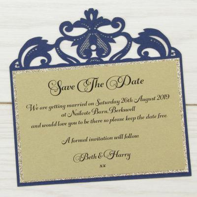 Farrah Glitter Save the Date