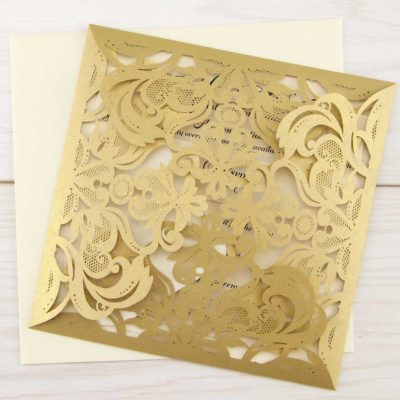Farrah Laser Cut Wedding Invitation