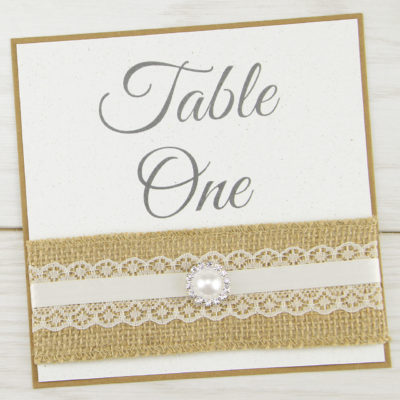 Rustic Glamour Table Name / Number