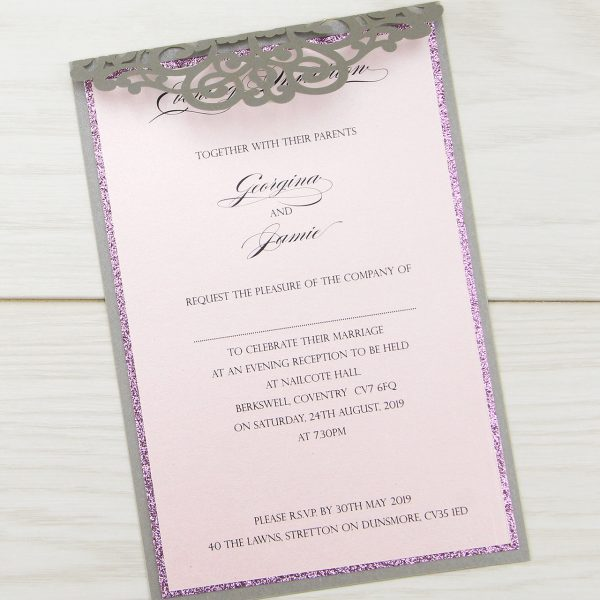 Ruby with Glitter Evening Invitation