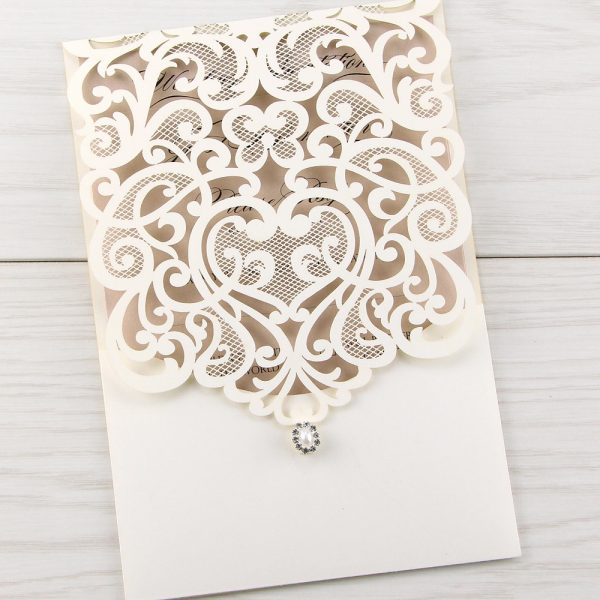 Josephine Laser Cut Pure Invitation Wedding Invites