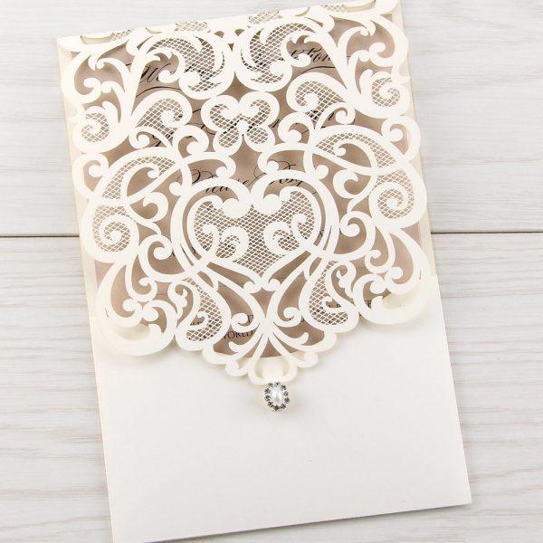 Wedding Laser Cut Invitations: Pure Invitation Wedding Invites