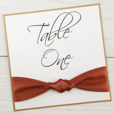 Knotted Ribbon Table Name / Number