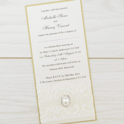 Vintage Lace Long Layer Wedding Invitation