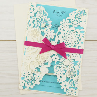 Molly with Bow Wedding Invitation