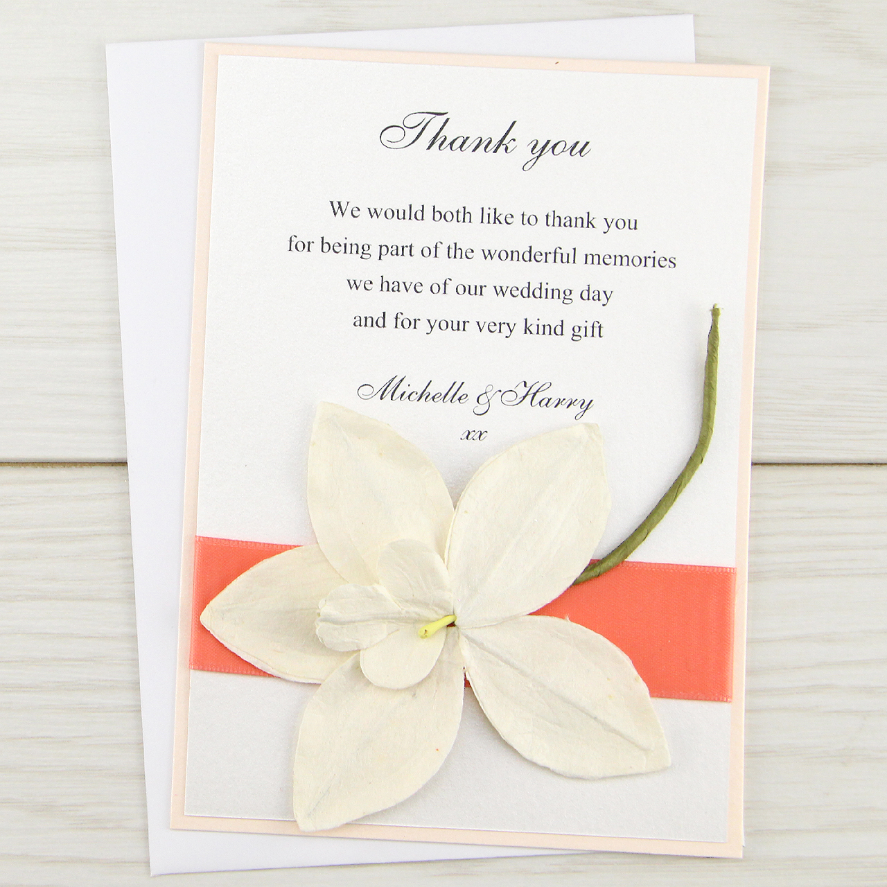 Orchid Thank You Card Pure Invitation Wedding Invites