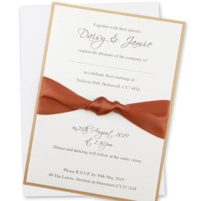 Knotted Ribbon Parcel Wedding Invitation
