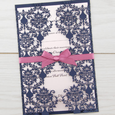 Rosa with Satin Bow Wedding Invitation