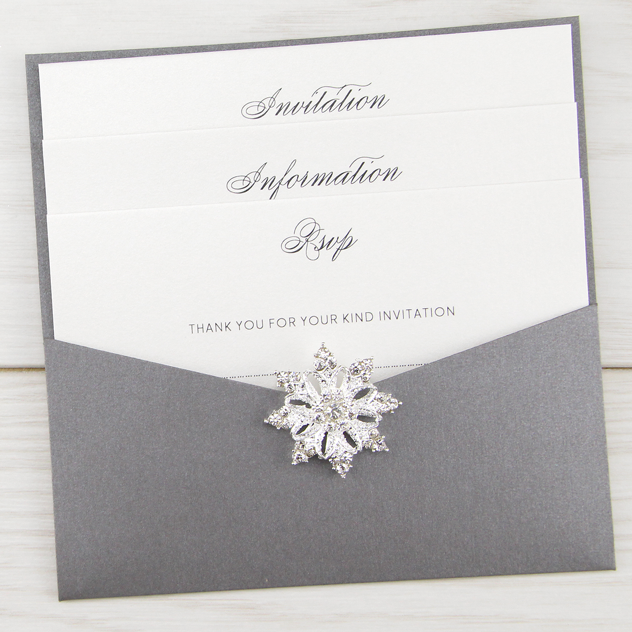 Snowflake Pouch | Pure Invitation Wedding Invites