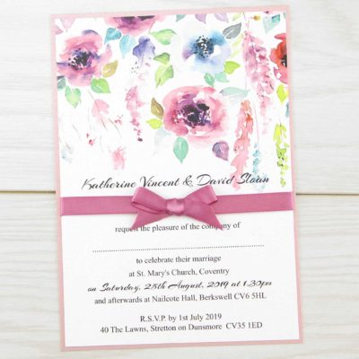 Summer Brights Parcel Wedding Invitation
