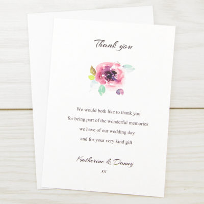 Summer Brights Thank you Card