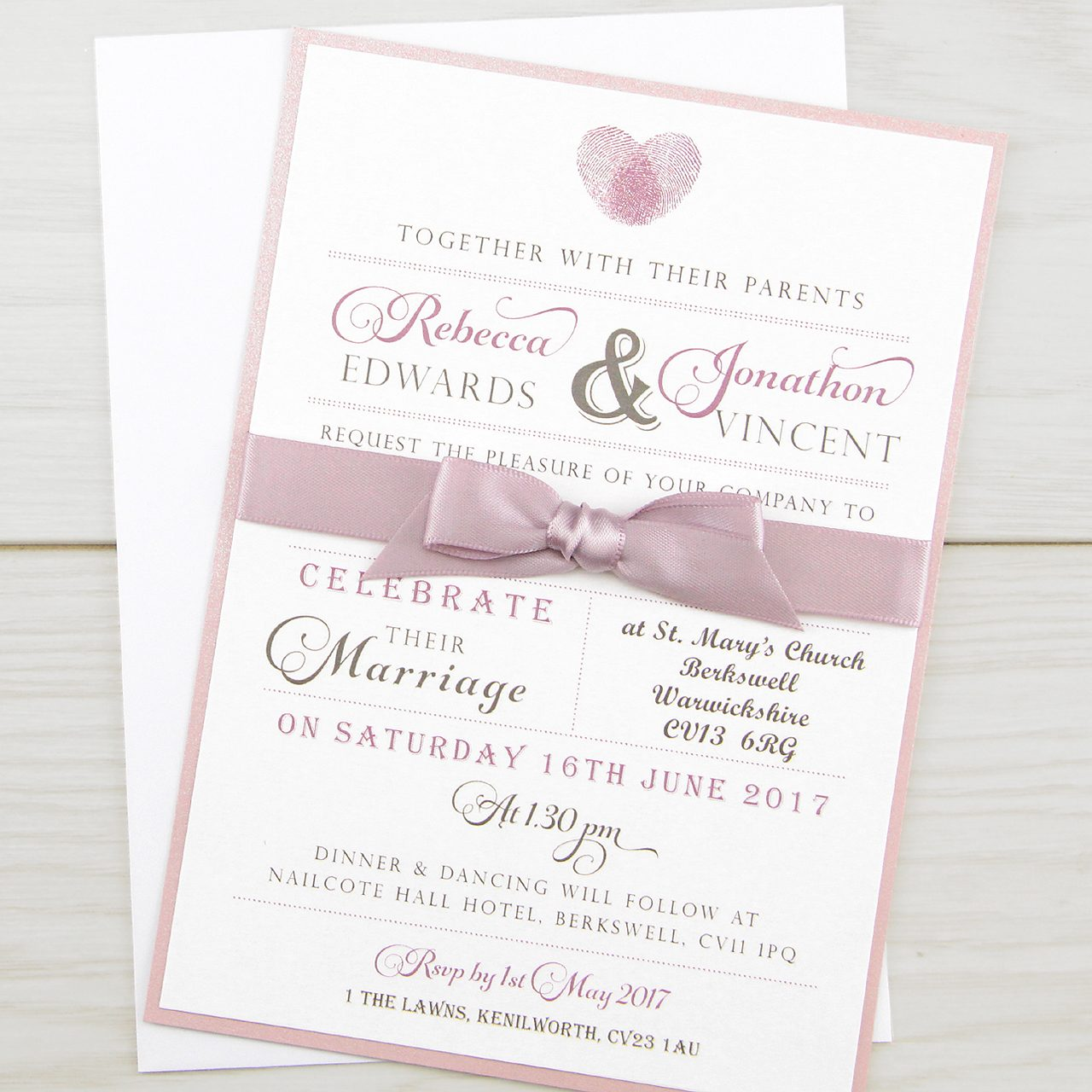 Thumb Print Parcel | Pure Invitation Wedding Invites