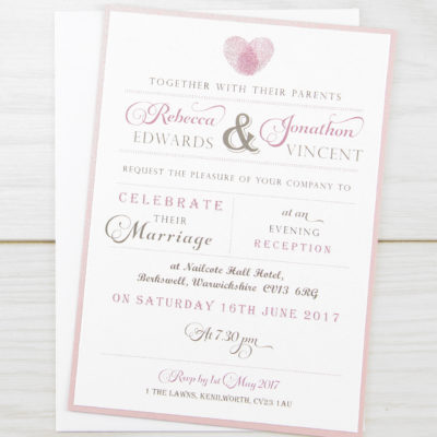 Thumb Print Evening Invitation